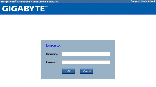 Reference Material - Gigabyte IPMI Default Login and